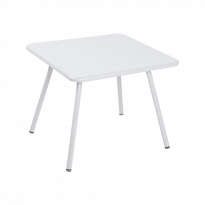 Table LUXEMBOURG KID 57 x 57 de Fermob, Blanc coton