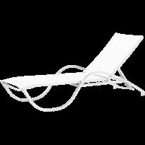 Bain de soleil NEPTUNE de Vlaemynck, Structure Blanc, Batyline Blanc