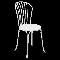 Chaise OPÉRA + de Fermob, Blanc coton