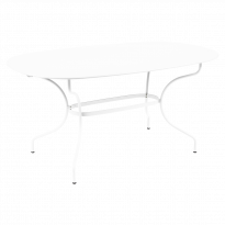 Table ovale 160x90 OPÉRA + de Fermob, Blanc coton