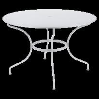 Table ronde OPÉRA + de Fermob, D. 117, Blanc coton