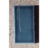 Table en pierre de lave émaillée 200 x 100, piètement directoire, Bleu pétrole