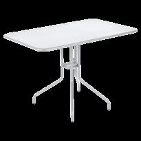 Table rabattable PÉTALE de Fermob 110 cm blanc coton