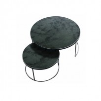 Set Round Nesting Coffee Table Charcoal - Heavy Aged Mirror de Ethnicraft Accessories