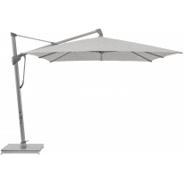 Parasol décentré SOMBRANO® S+ de Glatz, 300 x 300, Structure anthracite, Toile 652 Silver