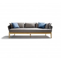 Sofa MOOD de Tribù, Teck finition Earthbrown