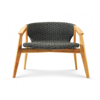 Chaise longue KNIT de Ethimo, Teck naturel