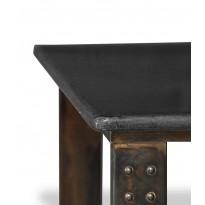Table basse en pierre de lave ardoise atelier