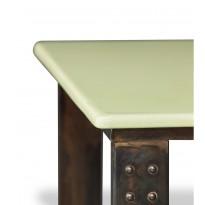 Table basse en pierre de lave céladon atelier
