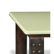 Table basse en pierre de lave émaillée pied atelier, 6 coloris