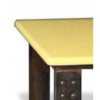 Table basse en pierre de lave miel atelier
