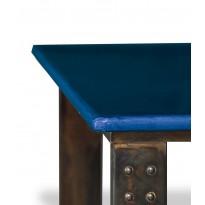 Table basse en pierre de lave pied bleu de castre atelier