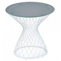 Table basse HEAVEN de Emu, Structure blanche / Verre fumé
