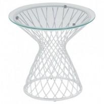 Table basse HEAVEN de Emu, Structure blanche / Verre transparent