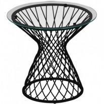 Table basse HEAVEN de Emu, Structure noire / Verre transparent