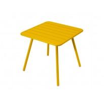 Table carrée 4 pieds LUXEMBOURG de Fermob, Miel