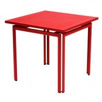 Table carrée COSTA de Fermob, Coquelicot