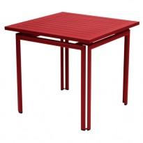 Table carrée COSTA de Fermob, Piment