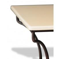 Table en pierre de lave émaillée 200 x 100, piètement directoire, Pierre