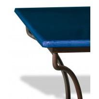 Table en pierre de lave émaillée Bleu de Castre L.200 Pied directoire