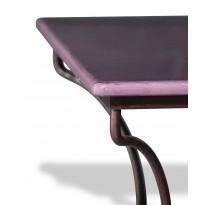 Table en pierre de lave émaillée Figue L.200 Pied Directoire