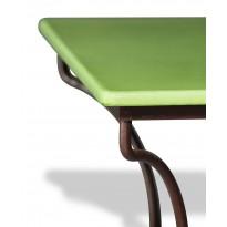 Table en pierre de lave émaillée Vert Pomme L.180 Pied Directoire