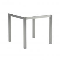Table en verre TABOELA 80 x 80 de Royal Botania, Blanc