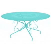 Table MONTMARTRE de Fermob D. 117 Bleu lagune