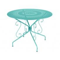 Table MONTMARTRE de Fermob D. 96 Bleu lagune