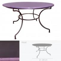 Table ronde en pierre de lave émaillée D.120 figue