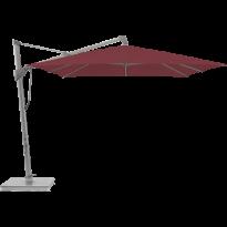 Parasol décentré SOMBRANO® S+ de Glatz, 300 x 300, Structure anodisé naturel, Toile 436 Wine