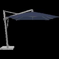 Parasol décentré SOMBRANO® S+ de Glatz, 300 x 300, Structure anodisé naturel, Toile 439 Navy