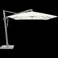 Parasol décentré SOMBRANO® S+ de Glatz, 300 x 300, Structure anodisé naturel, Toile 510 White
