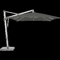 Parasol décentré SOMBRANO® S+ de Glatz, 300 x 400, Structure anthracite, Toile 669 Carbone