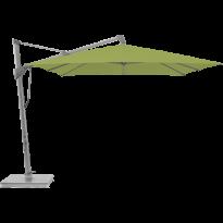 Parasol décentré SOMBRANO S+ de Glatz, 300x300, Structure anodisé naturelle, Toile 411 Sugar Grass