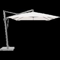 Parasol décentré SOMBRANO® S+ de Glatz, 350 x 350, Structure anodisé naturel, Toile 404 White