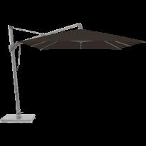 Parasol décentré SOMBRANO® S+ de Glatz, 350 x 350, 408 Black - Armature gris graphite