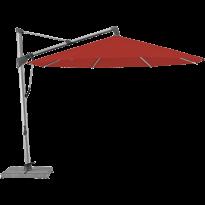 Parasol décentré SOMBRANO® S+ de Glatz, D.350, Structure anodisé naturel, Toile 403 Carmine