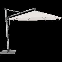 Parasol décentré SOMBRANO® S+ de Glatz, D.400, Structure anodisé naturel, Toile 404 White