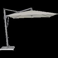 Parasol décentré SOMBRANO® S+ EASY de Glatz, 300 x 300, Structure anthracite, Toile 151 Ash