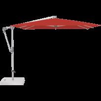 Parasol déporté SUNWING® CASA de Glatz, Structure anodisé naturel, 270 x 270 cm, 403 Carmine