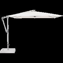 Parasol déporté SUNWING® CASA de Glatz, Structure anodisé naturel, 270 x 270 cm, 404 White