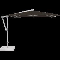 Parasol déporté SUNWING® CASA de Glatz, Structure anodisé naturel, 270 x 270 cm, 408 Black