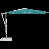 Parasol déporté SUNWING® CASA de Glatz, Structure anodisé naturel, 270 x 270 cm, 416 Caribbean