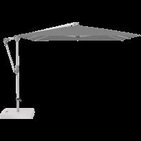 Parasol déporté SUNWING® CASA de Glatz, Structure anodisé naturel, 270 x 270 cm, 420 Smoke