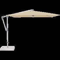 Parasol déporté SUNWING® CASA de Glatz, Structure anodisé naturel, 270 x 270 cm, 422 Cream