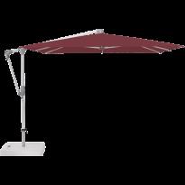 Parasol déporté SUNWING® CASA de Glatz, Structure anodisé naturel, 270 x 270 cm, 436 Wine