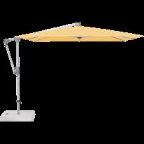 Parasol déporté SUNWING® CASA de Glatz, Structure anodisé naturel, 270 x 270 cm, 438 Straw