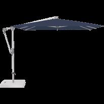 Parasol déporté SUNWING® CASA de Glatz, Structure anodisé naturel, 270 x 270 cm, 439 Navy