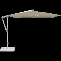Parasol déporté SUNWING® CASA de Glatz, Structure anodisé naturel, 270 x 270 cm, 476 Cinnamon